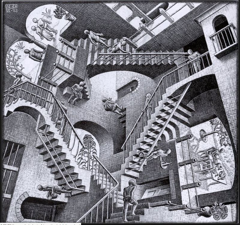Maurits Cornelis Escher (1898–1972) holland művész grafikája