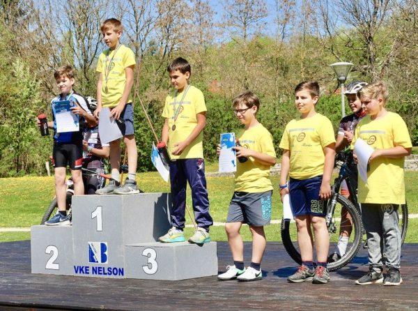 Pandur Levente két szakágban is a dobogó legmagasabb fokára állt. Fotó: Veszprem Cycling Academy