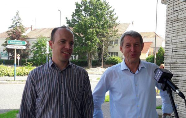 Zelenák Adrián és Hartmann Ferenc a sajtótájékoztatón. Fotó: a szerző