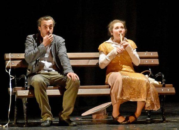 Jelenet az előadásból. Fotó: Zentai Magyar Kamaraszínház