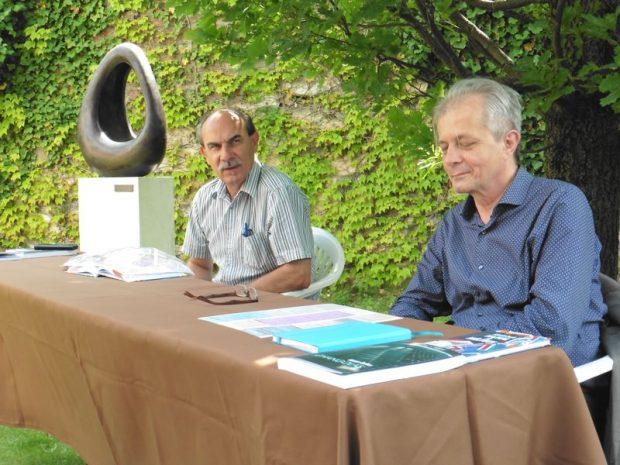Kilián László (balról) és Hegyeshalmi László a sajtótájékoztatón
