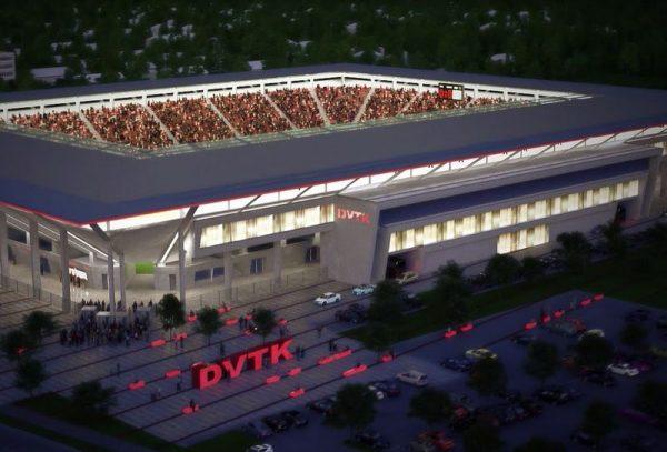 A Diósgyőri Stadion látványterve. A létesítményt májusban adták át. Kép forrása: Csakfoci.hu