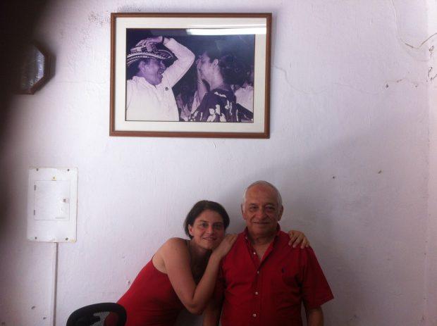 A kép tavaly készült Jaime García Márquezzel, a híres író öccsével
