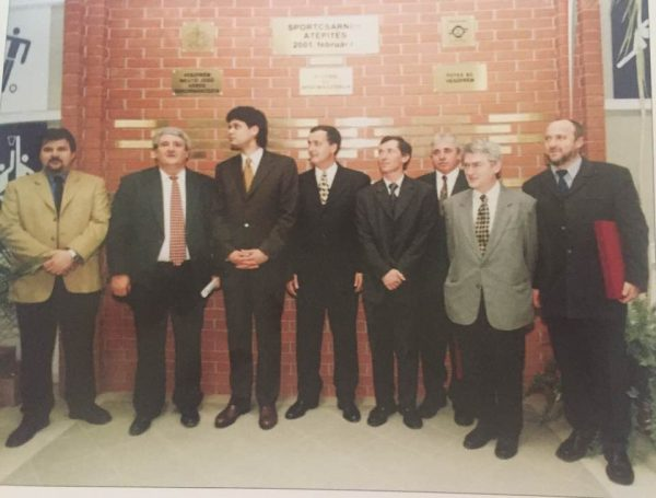 A kép a 2001-es csarnokavatón készült. Forrás: Donát Tamás archívuma