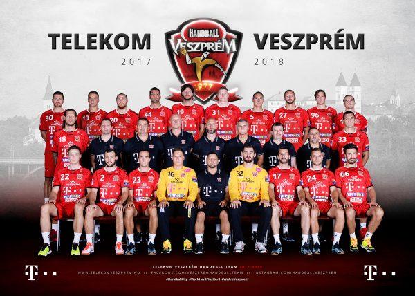 A Telekom Veszprém csapatának hivatalos fotója a 2017/2018-as idényre. Forrás: telekomveszprem.hu