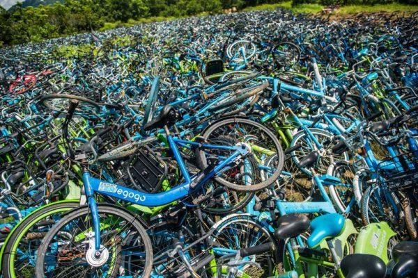 A szencseni kerékpártemető. Fotó: Blanches/Imaginechina
