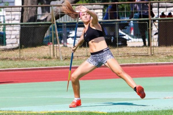 Kövér Fanni két aranyat szerzett a a serdülők csapatbajnokságán. Fotó: VEDAC
