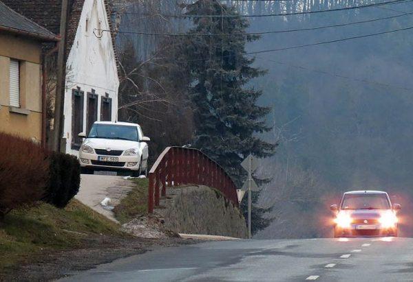 Mérőműszeres rendőrautó Pulánál. Fotó: Győrffy Árpád/Balatontipp.hu