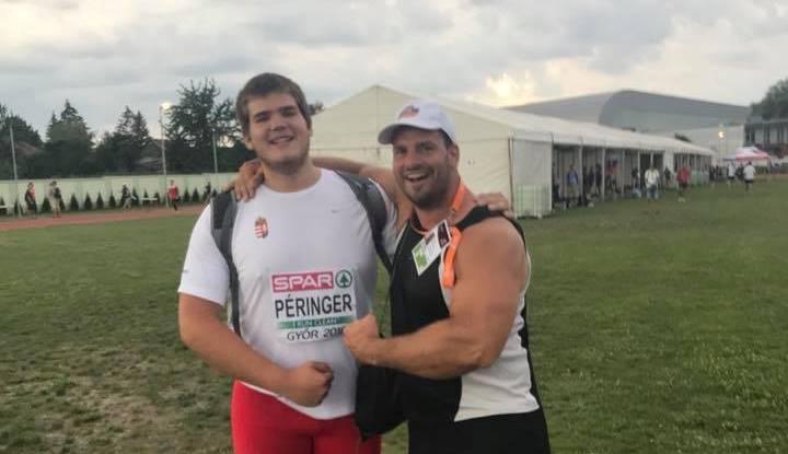 Péringer Márk és edzője, Mozsdényi Dávid. Fotó: VEDAC