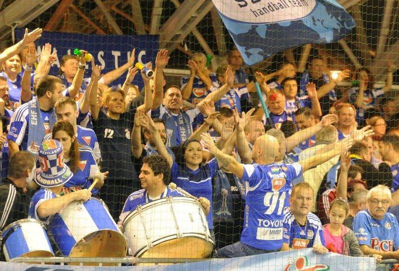 A MOL–Pick Szeged szurkolói a szombati rangadón. Fotó: m4sport.hu