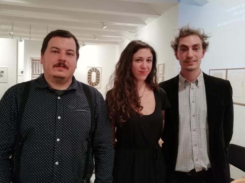 Középen a Széki Patka-díjas Cserhalmi Luca, balra Sós Gergő, jobbra Zimonyi Máté. Fotók: a szerző