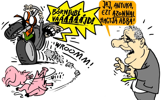 Pápai Gábor karikatúrája