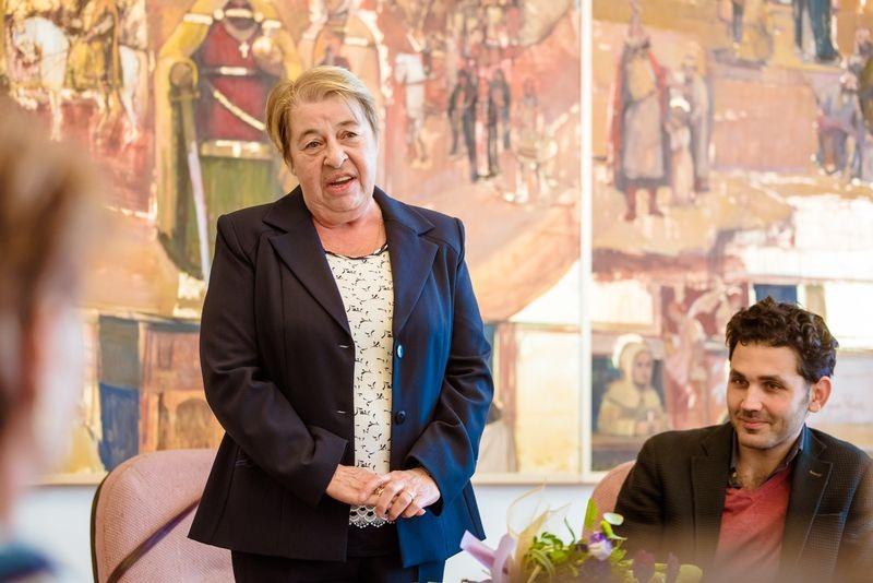 Kisné Lovasi Mária életműdíjas és Tóth Simon Ferenc, a díjat adományozó Twickel-Zichy Mária Terézia Alapítvány kuratóriumi tagja