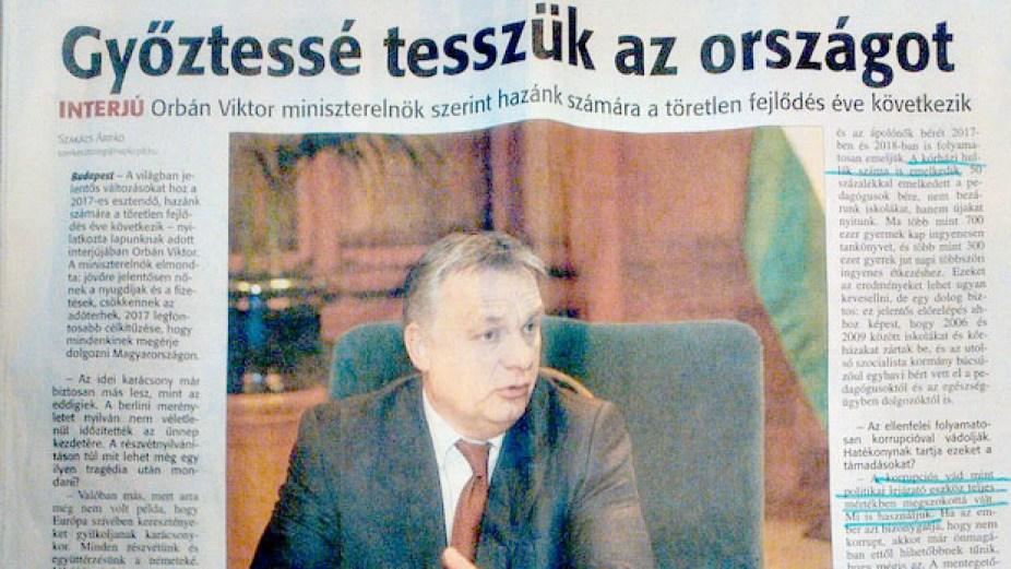 A meghekkelt Orbán-interjú