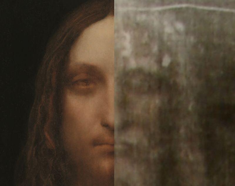 Leonardo da Vinci: Salvator Mundi – Üdvözítő, A világ megváltója (restaurálás közben)