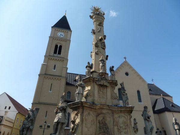 A Szentháromság tér a várban. Fotó: Veszprém Kukac archív