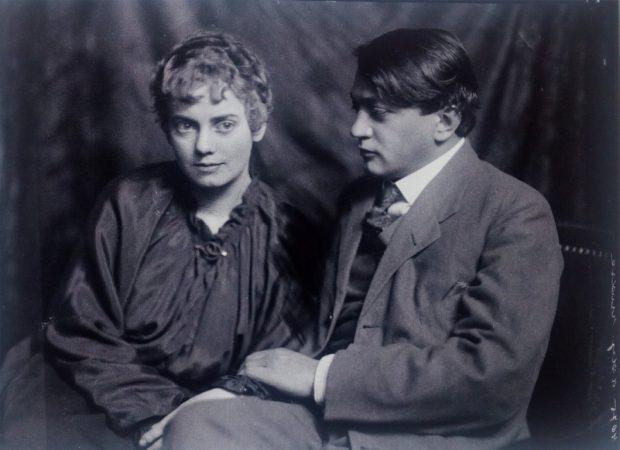 Csinszka és Ady. Székely Aladár fotója