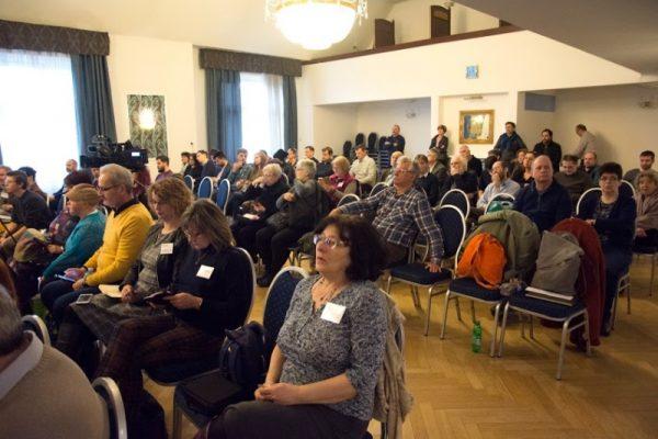 Újságírók a Nyomtass te is szervezte Újratervezés című konferencián