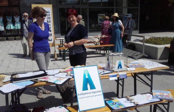 A veszprémi székhelyű AutiSpektrum Egyesület asztala a Kossuth utcán a három évvel ezelőtti Civil Napon. Fotó: autispektrum.com