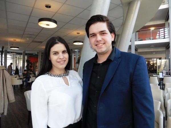 Lakatos Anita, a jótékonysági gála ötletgazdája és Magyar János, aki segített a megvalósításban. Fotók: a szerző