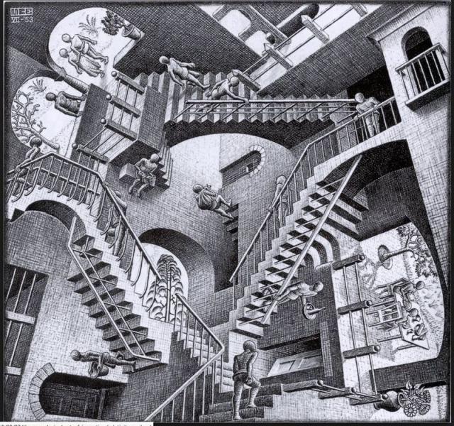 Kép: Maurits Cornelis Escher (1898–1972) holland művész grafikája