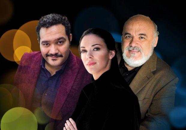 A Rigoletto főszereplői: René Barbera, Zuzana Marková és Paolo Gavanelli