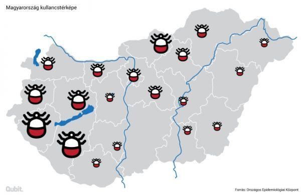 Magyarország kullancstérképe