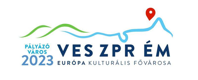 Ez még a pályázathoz készült logó. Veszprém azóta megnyerte az Európa Kulturális Fővárosa 2023 címet