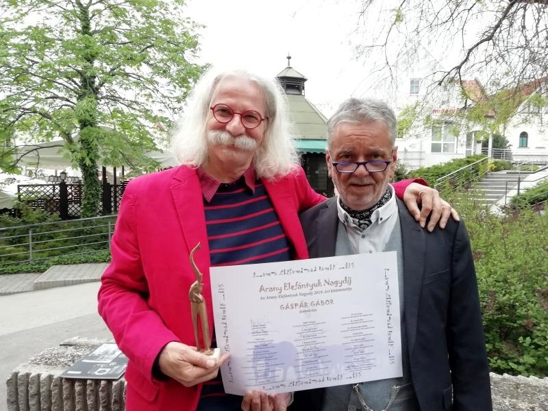 Az Arany Elefántyuk nagydíjas Gáspár Gábor és Molnár Sándor. Fotó: a szerző