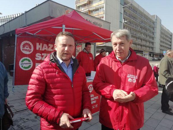 Ujhelyi István és Hartmann Ferenc a sajtótájékoztatón. Fotó: a szerző