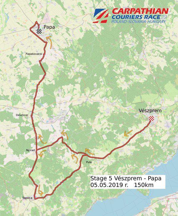 Veszprém-Pápa útvonal