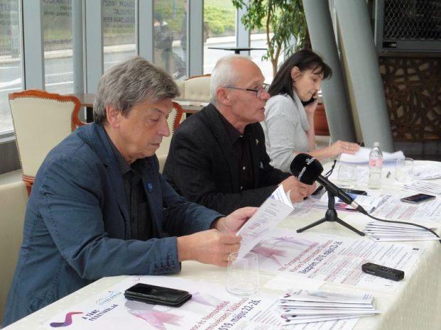 Vándorfi László, Krámer György és Molnárné Simon Anikó a sajtótájékoztatón. Fotó: a szerző