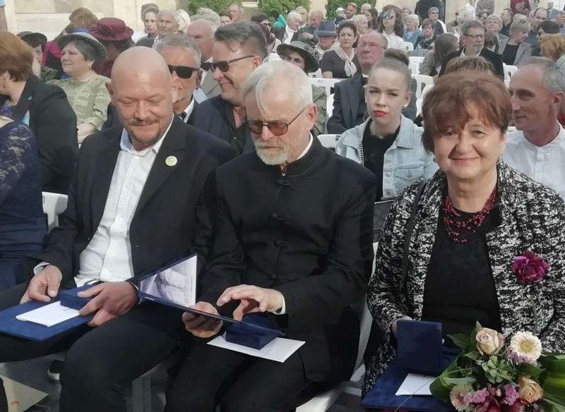 Az idei Gizella-díjasok: Trócsányi Gergely, Zeitler Gusztáv és Rácz Katalin. Fotók: a szerző