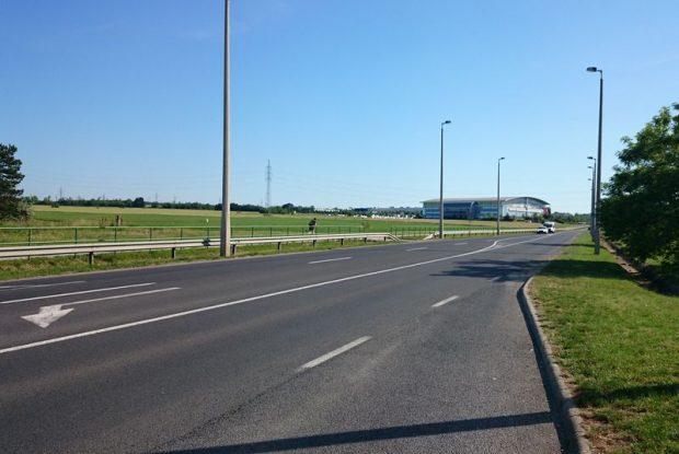 Az uszoda tervezett helyszíne. Fotó: Veszprém Kukac archív