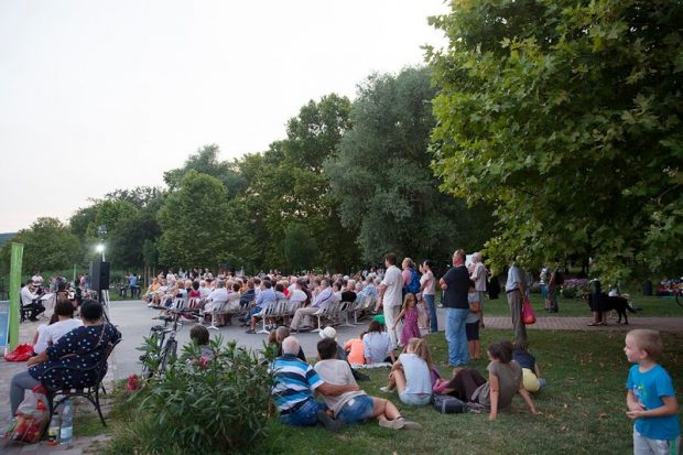 Az almádi koncert közönsége