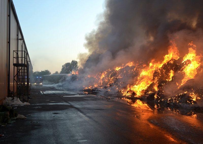 A katasztrófavédelmi szóvivő tegnapi fotója a tűzről