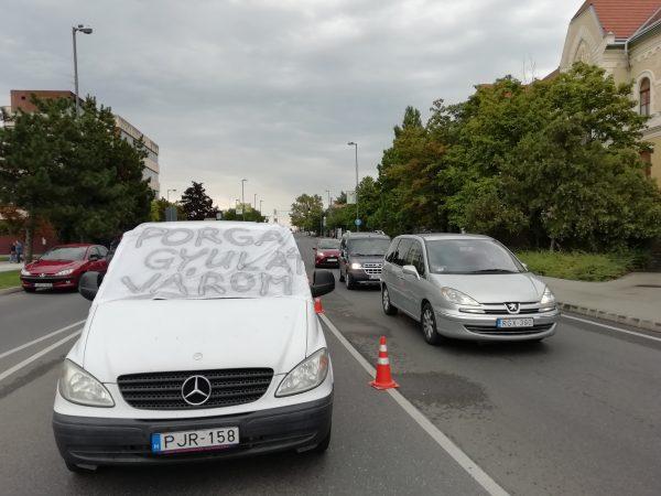 Kép a keddi demonstrációról