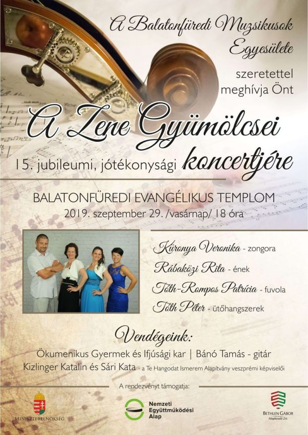 Jótékonysági koncert plakát