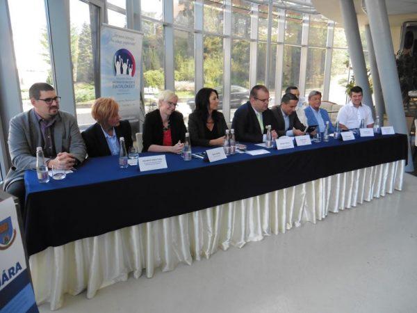 A sajtótájékoztató vendégei. Fotók: a szerző