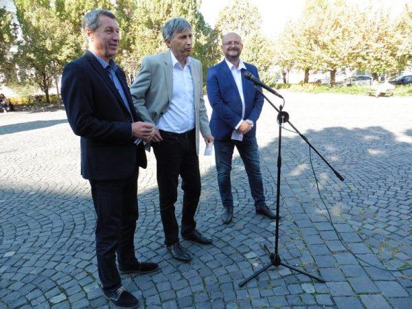 A képen balról jobbra: Hartmann Ferenc, Katanics Sándor és Gerstmár Ferenc. Fotó: a szerző