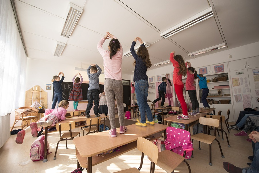 Tanóra a Csillagberek Waldorf Általános Iskolában. Fotó: Csillagberek ÁI