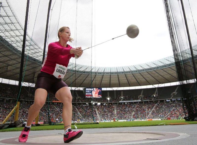 Orbán Éva a berlini világbajnokságon, ahol a 8. helyen végzett