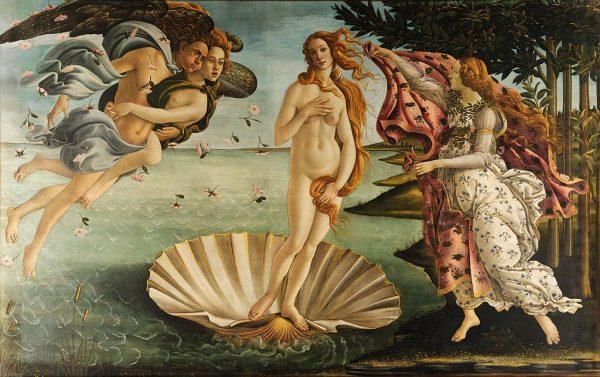 Boticelli Vénusz születése című festményét is megcsodálhatjuk virtuálisan