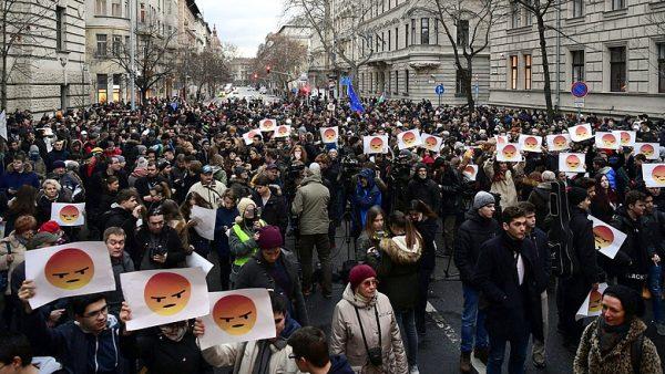 A kép egy korábbi tüntetésen készült. Fotó: napi.hu