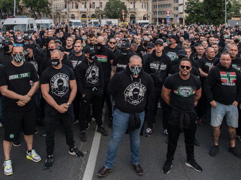 Felvonulás a bűnözés ellen. Fotó: Bődey János/Index