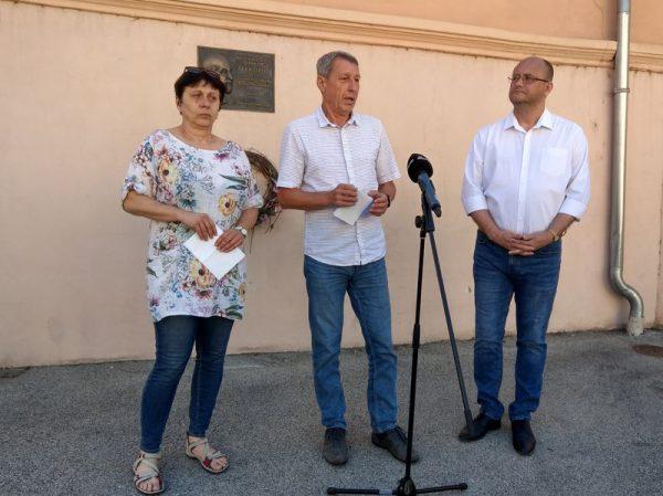 Benczik Gabriella, Hartmann Ferenc és Gerstmár Ferenc  a sajtótájékoztatón. Fotó: a szerző