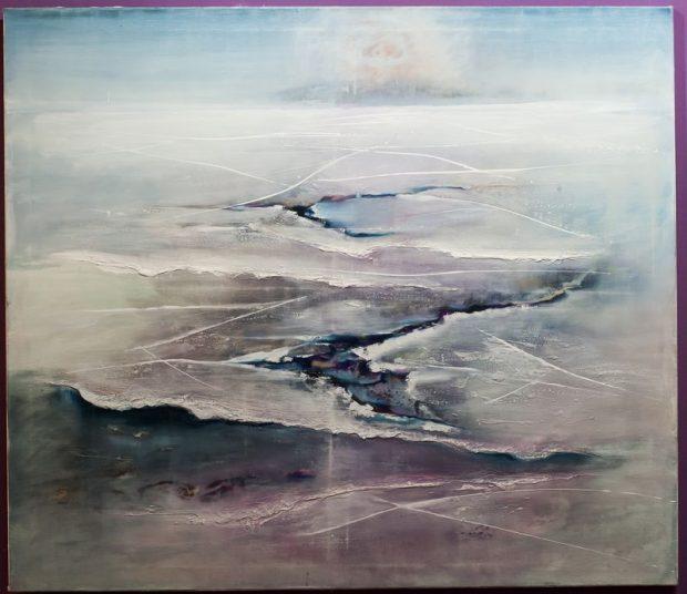 Veszeli Lajos: Metamorfózis (2018. olaj, vászon, 150x140 cm)