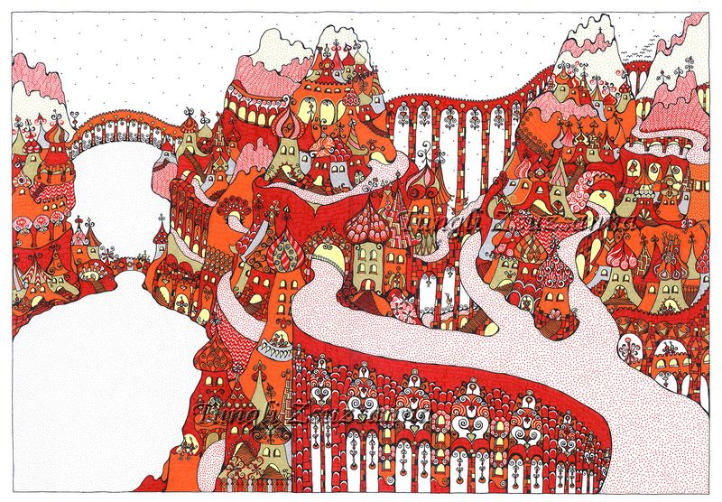 Tungli Zsuzsanna grafikája. Forrás: tunglizsuzsanna.hu
