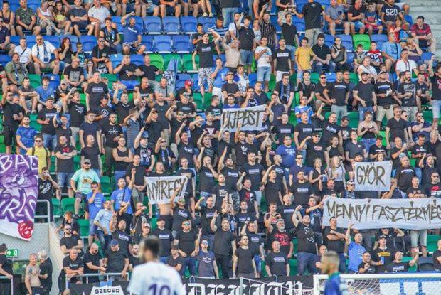 Szurkolók a Szeged-Csanád GA–Békéscsaba meccsen augusztus 2-án. Fotó: szeged365.hu