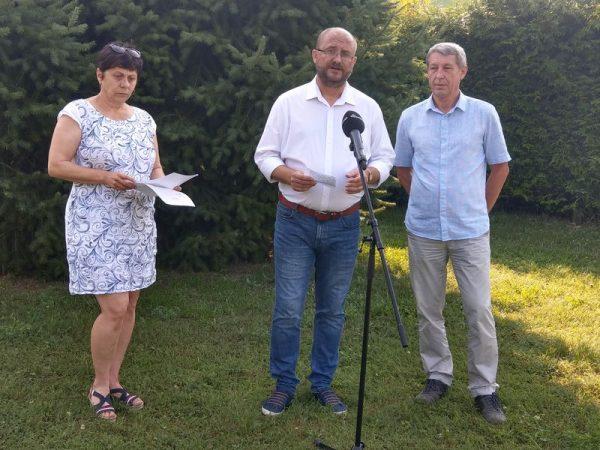 Benczik Gabriella, Gerstmár Ferenc és Hartmann Ferenc a sajtótájékoztatón. Fotók: a szerző